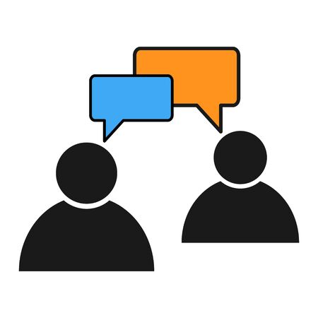 Chat, communication, speak, talk icon vector illustration isolated on white background .
