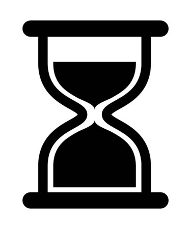 Hourglass icon vector design isolated on white background. Flat time sign .