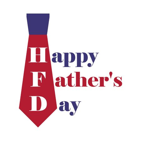 Happy Father's Day icon for greeting card isolated on white background. Vector illustration .