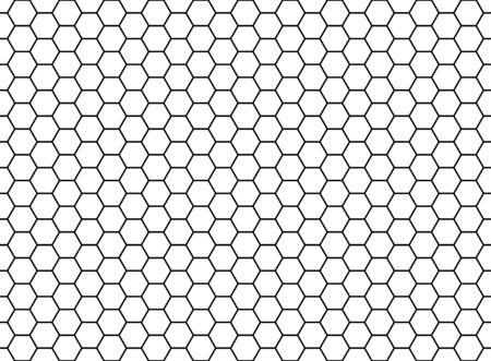 Honeycomb hexagonal seamless pattern. Grid design, vector background. Simple texture . Ilustrace