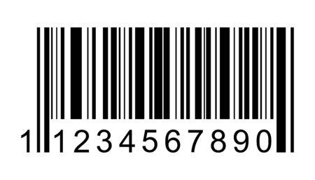 Ikona wektor kodu kreskowego. Kod kreskowy dla sieci web, projektowanie interfejsu użytkownika aplikacji. Ilustracja na białym tle. Ilustracje wektorowe