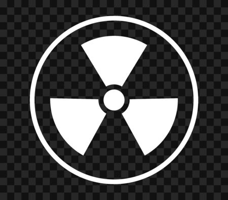 Radiation toxic symbol isolated on empty background. Flat warning sign . Ilustrace