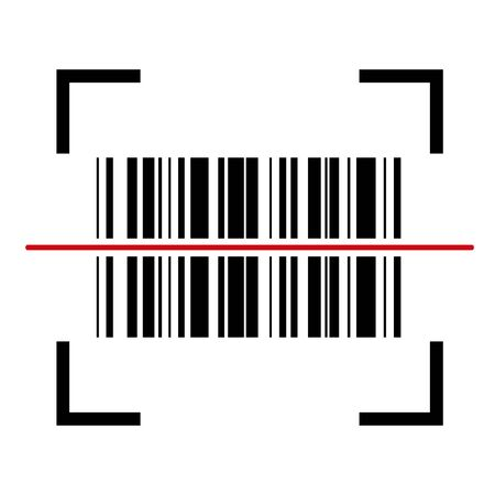 Barcode vector icon. Bar code for web, app ui design. Isolated illustration . Ilustrace