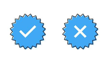 Guaranteed stamp set or verified badge. Verified icon stamp .