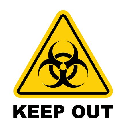 Biohazard keep out modern website icon isolated on white background. Design for mobile app and ui .