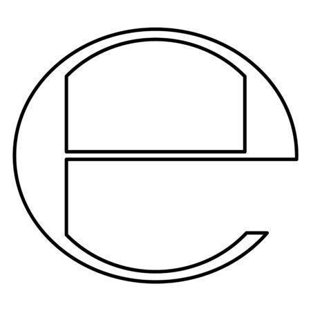 Estimated sign isolated on white background. Label mark vector illustration .