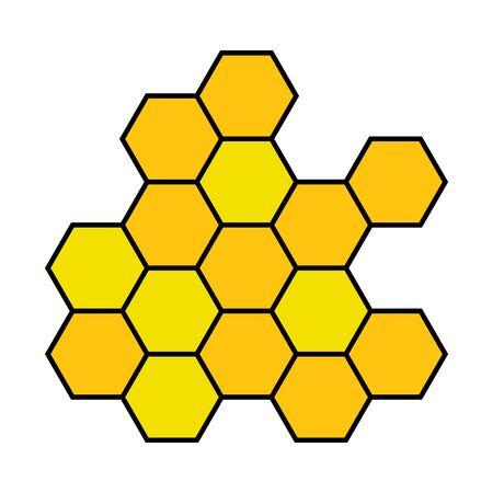 Honeycomb icon isolated on white background. Sweet nature symbol. Food texture .