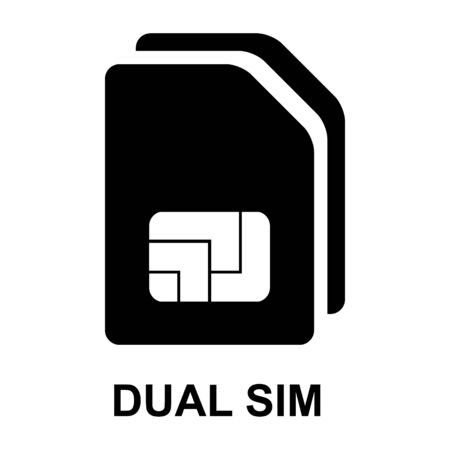 Sim card icon isolated on white background. Sim card  mobile slot . Smart design .