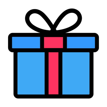 Gift box icon design. Vector present symbol isolated on white background .
