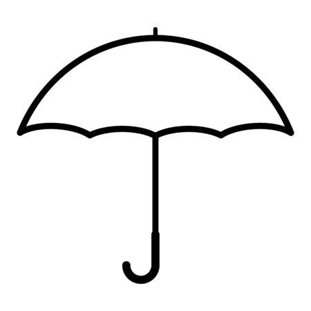 Umbrella flat icon vector design isolated on white background. Rain drop protection .