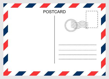 Postcard, travel blank card isolated on background. Modern graphic design Ilustración de vector