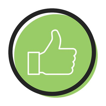 Speech icon vector bubble like dos , green color. flat simple trend modern logotype graphic design . Illustration