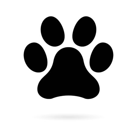 Animal paw icon, dog, cat.. symbol for pet. Foot mark isolated on white background .