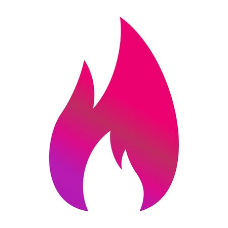 Fire flame icon. Fire hot flames vector sign isolated on white background .