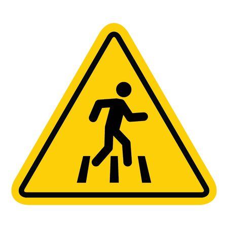 Aucun accès à l'icône de marche pour le panneau d'interdiction des piétons, illustration vectorielle. Aucun signe piéton.