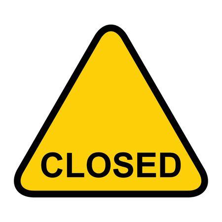 Closed the door icon isolated on white background. Market notice symbol . Illustration
