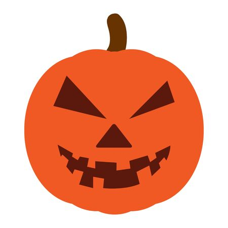Pumpkin Halloween icon vector. Pumpkin flat silhouette on a white background .