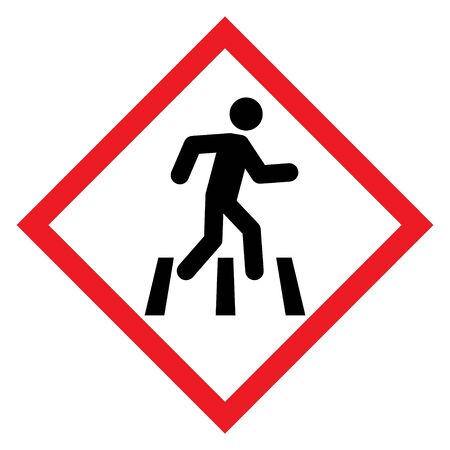 No walk icon access for pedestrians prohibition sign, vector illustration. No pedestrian sign .