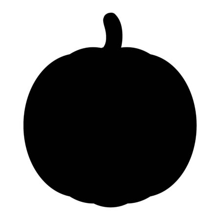 Pumpkin Halloween icon vector. Pumpkin flat silhouette on a white background .
