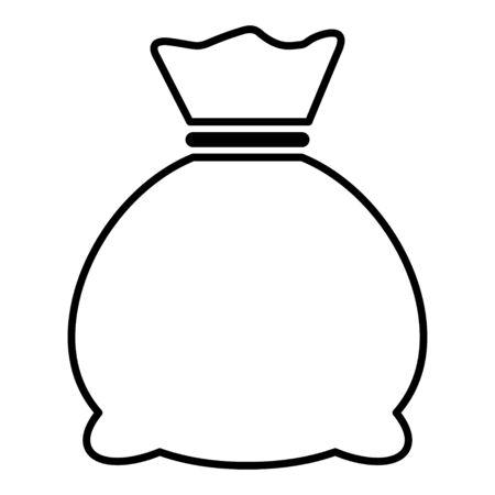 Money bag icon isolated on white background. Bank symbol, profit graphic, flat web sign .
