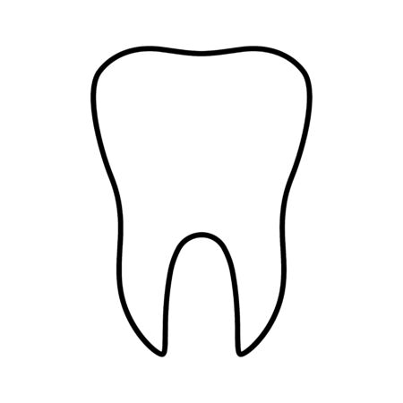 Tooth flat icon isolated on white background. Tooth vector illustration. Dentistry symbol. Stomatology .