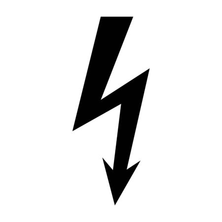High voltage icon, danger vector symbol isolated on white background, web button .