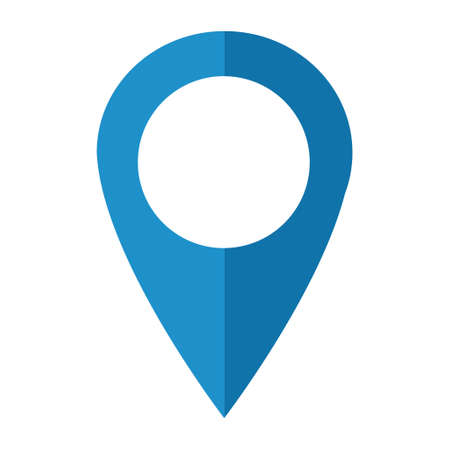 Location icon, map pointer symbol isolated on white background. Vector web button. Ilustrace