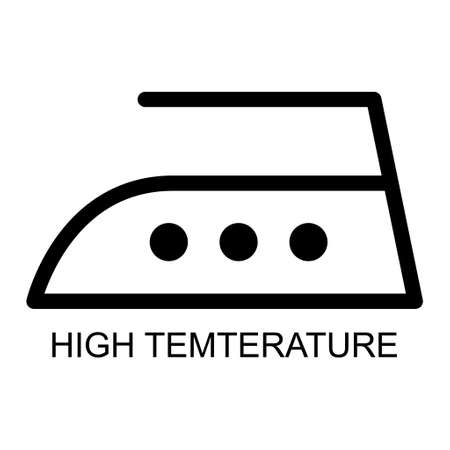 Iron flat icon isolated on white background. High temperature level symbol. Machine vector illustration.