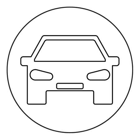 Car icon isolated on white background. Automobile symbol, vector concept. Automotive sign, web shape