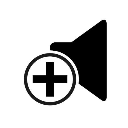Music sound icon, audio volume symbol. Vector illustration graphic for app, web and media. 矢量图像