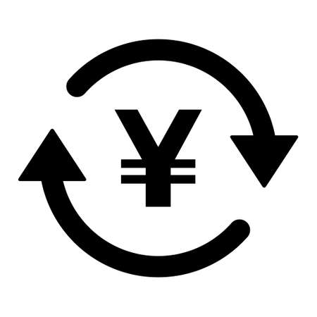Yuan money icon, china graphic pay business sign, market economy vector illustration. Ilustração