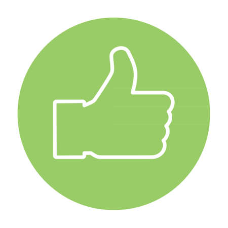 Thumb up icon, like finger vector illustration sign, business social web button.