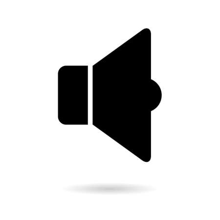 Music sound icon, audio volume symbol. Vector illustration graphic for app, web and media. 向量圖像