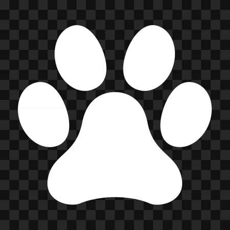 Animal paw icon, dog, cat .. symbol for pet. Foot mark isolated on white background.