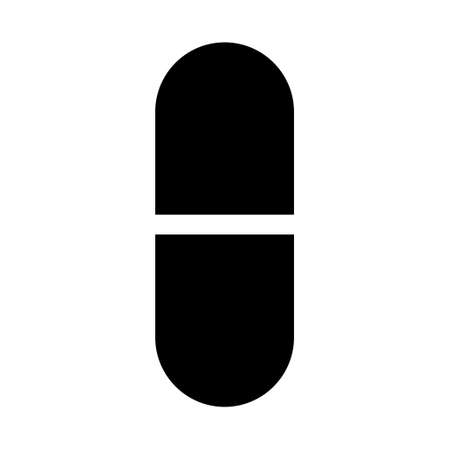 Medicine pill flat capsule icon. Vector sign isolated on white background. Pharmacy illustration. Illusztráció