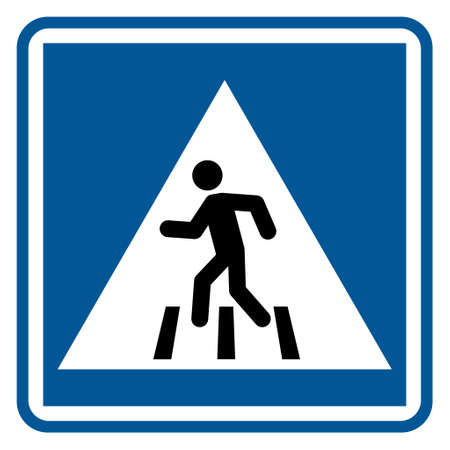 No walk icon access for pedestrians prohibition sign, vector illustration. No pedestrian sign. 向量圖像