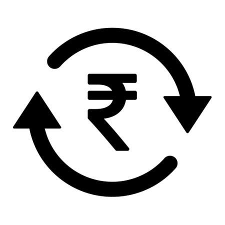 Rupee money icon, indian graphic pay business sign, market economy vector illustration. 矢量图像