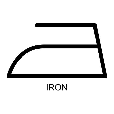 Iron flat icon isolated on white background. Ironing symbol. Machine vector illustration.