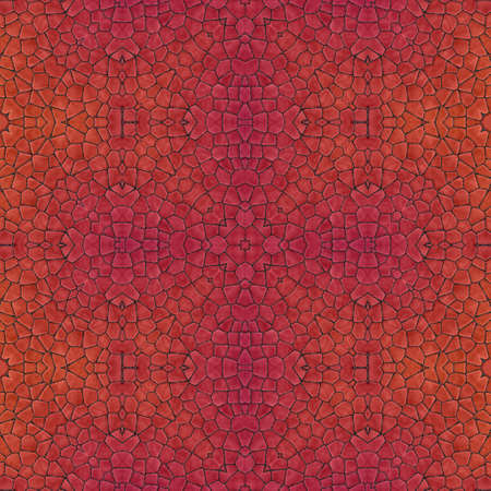 Pattern mosaic kaleidoscopic seamless generated texture, ornament, fragile, fractal, material, abstract render background. 免版税图像
