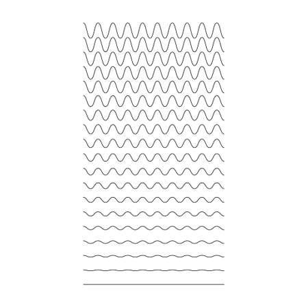 Set of wavy, curvy, zigzag horizontal lines. Vector simple new design element. Иллюстрация