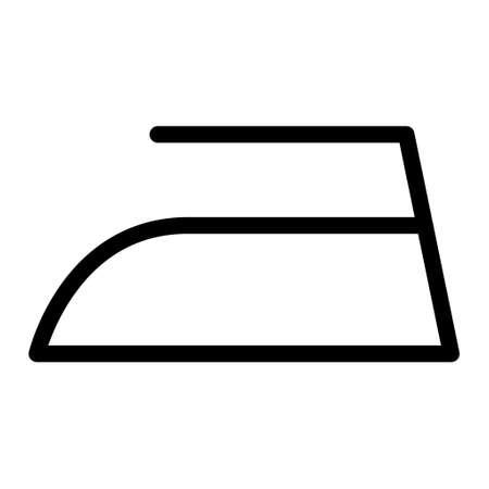 Iron flat icon isolated on white background. Ironing symbol. Machine vector illustration.