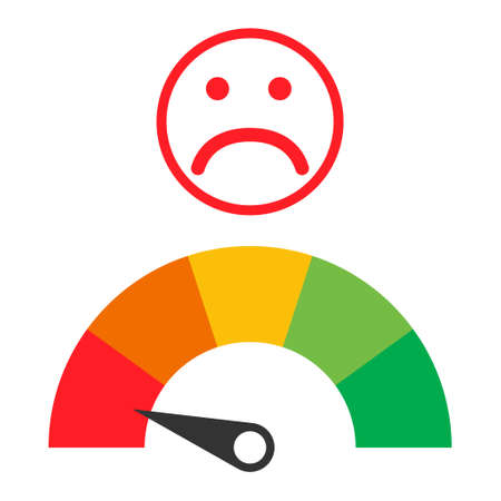 Customer icon emotions satisfaction meter with different symbol on white background. Иллюстрация