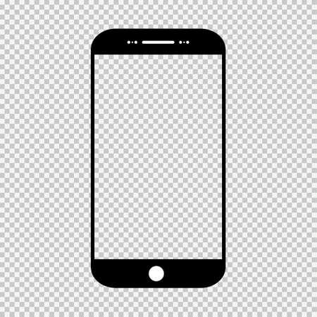 Smart mobile phone mock up, Smartphone technology template, modern blank telephnone, realistic vector illustration.