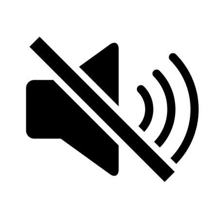 Music sound icon, audio volume symbol. Vector illustration graphic for app, web and media. Иллюстрация