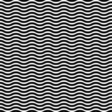 Seamless pattern wavy line vector illustration, horizontal texture wave simple background. Modern decorative element.