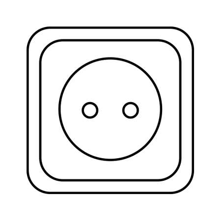 Connection and disconnection electric socket plug, error 404, web page not found vector illustration. Vettoriali
