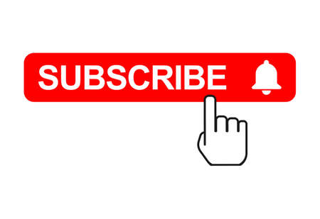 Subscribe web button, social media icon vector illustration, internet website symbol, isolated sign.