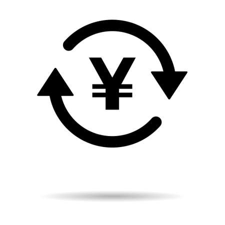 Yuan money icon, china graphic pay business sign, market economy vector illustration. Vettoriali