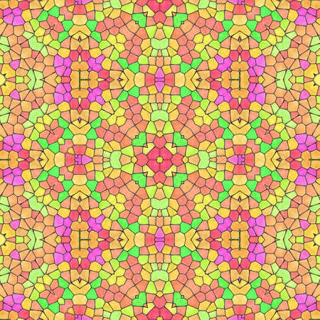 Pattern mosaic kaleidoscopic seamless generated texture, ornament, fragile, fractal, material, abstract render background. Reklamní fotografie