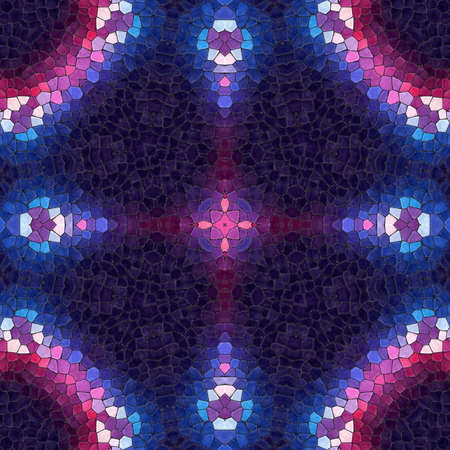 Pattern mosaic kaleidoscopic seamless generated texture, ornament, fragile, fractal, material, abstract render background. Archivio Fotografico